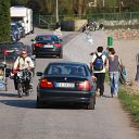 bicycle, classic car, car, moped, Falkensteiner Ufer
