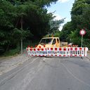 barrier, traffic sign, Falkentaler Weg